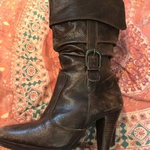 Matisse brand brown leather high heeled boot